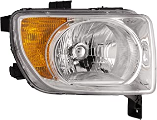 HEADLIGHTSDEPOT Chrome Housing Halogen Right Passenger Headlight Compatible With Holiday Rambler Vacationer 2006-2008 Motorhome RV