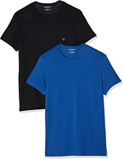 Men's 2 Pack Crew Lounge T-Shirts, Multicoloured
