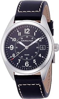 Hamilton Khaki Field Black Dial SS Leather Quartz Male Watch H68551733