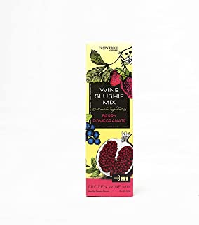 Wine Slushie Mix - Add Flavor to Your Next Party, Picnic or Girls Night Out - Three Pouches of Frozen Wine Mix Per 12 Ounce Box -Make a Great Drink with Mix, Wine, Ice and a Blender By Cagey Moon Company (Berry Pomegranate)