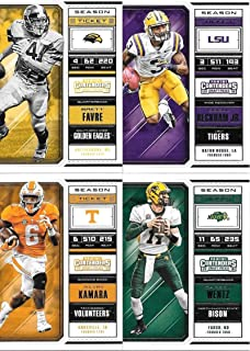 2018 Panini Contenders Draft Picks Complete Football Set of 100 Cards with Tom Brady Odell Beckham Carson Wentz Alvin Kamara Brett Favre and Aaron Rodgers