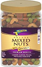 PLANTERS Deluxe Salted Mixed Nuts, 34 Oz. Resealable Canister - Contains Cashews, Almonds, Pecans, Pistachios & Hazelnuts ...