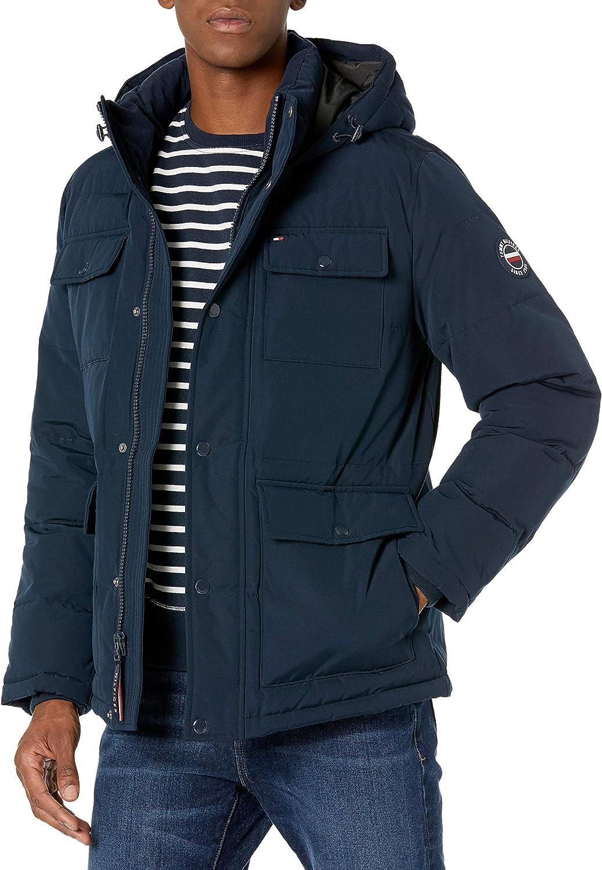 Tommy Hilfiger Men's Hagen Water Resistant Hooded Parka Jacket