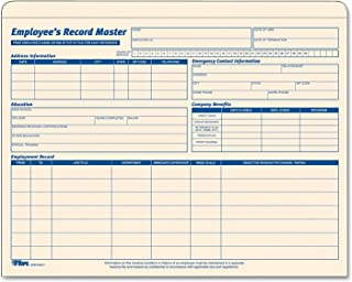 TOPS Employee Record Master File Jacket, 1-1/4 Inch Expandable, 11.75 x 9.5 Inches, Manila, 15-Pack (32801)