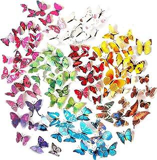 comprar comparacion Tomkity 96 Adhesivos Mariposas 3D Decorativos para Pared