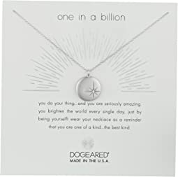 Dogeared - One In A Billion, Sparkle Star Disc Necklace