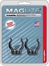 Maglite Mounting Brackets for C Cell Flashlights, Black