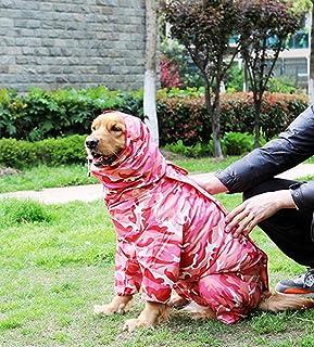 zhxinashu Impermeable de Camuflaje para Perros Mascota Impermeable de Camuflaje de Cuatro Patas para Perros Pequeños y Medianos?Camuflaje Rojo NO 28?