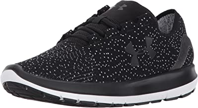 Under Armour Men's Speedform Slingride 1.1 Running Shoe, Black (001)/White, 10.5
