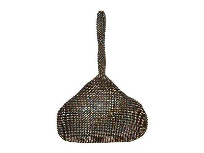 Jessica McClintock Staci Rhinestone Mesh Pouch Wristlet (Oil Slick) Wristlet Handbags