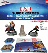 Disney Infinity: Marvel Superheroes (2.0 Edition) The Avengers Figure Pack Thor, Black Widow, Avenger's Tower with: 2 Power Discs (Thor and Escape From The Kyln), Web Card Code and Poster Bundle