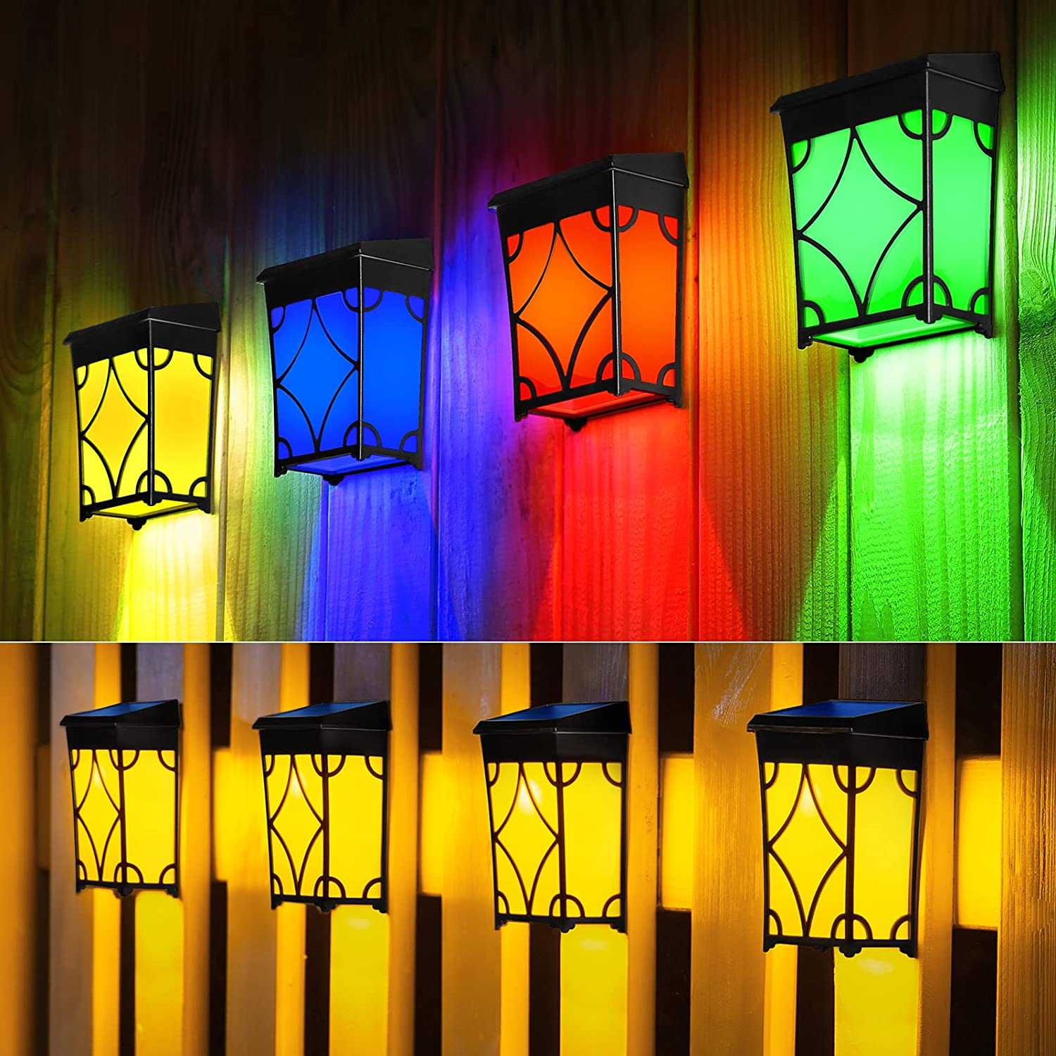 7 Colored Changing Luxury Max 73% OFF goods Solar Lights Waterproof Outdoor Fence L
