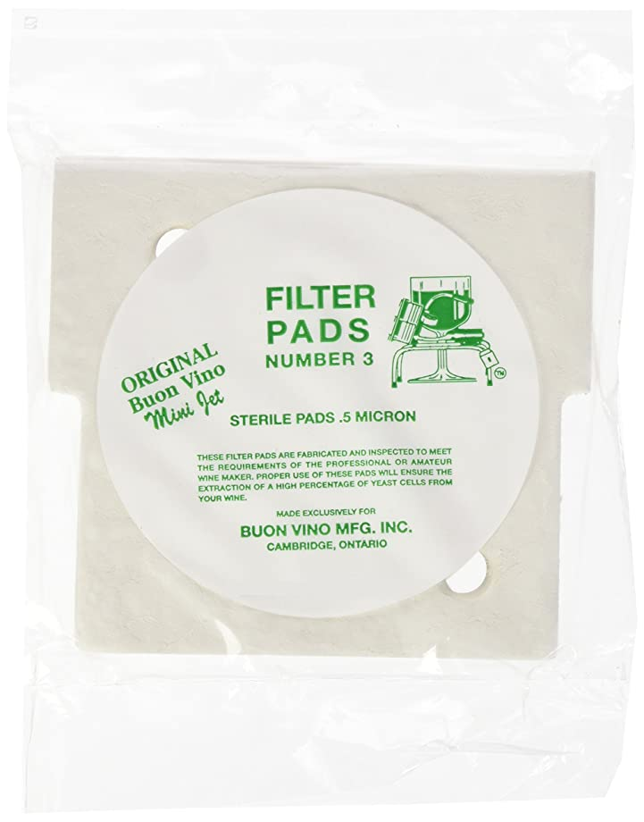 BUON Vino Mini-Jet Filter Pads #3-10 Pack
