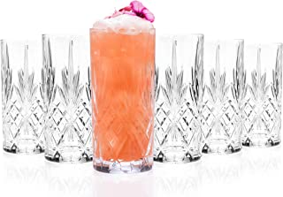 RCR 25766020006 Melodia Luxion Crystal Hi-Ball Cocktail Water Tumblers Glasses, Set of 6, 350 ml, Made in Italy, Dishwashe...