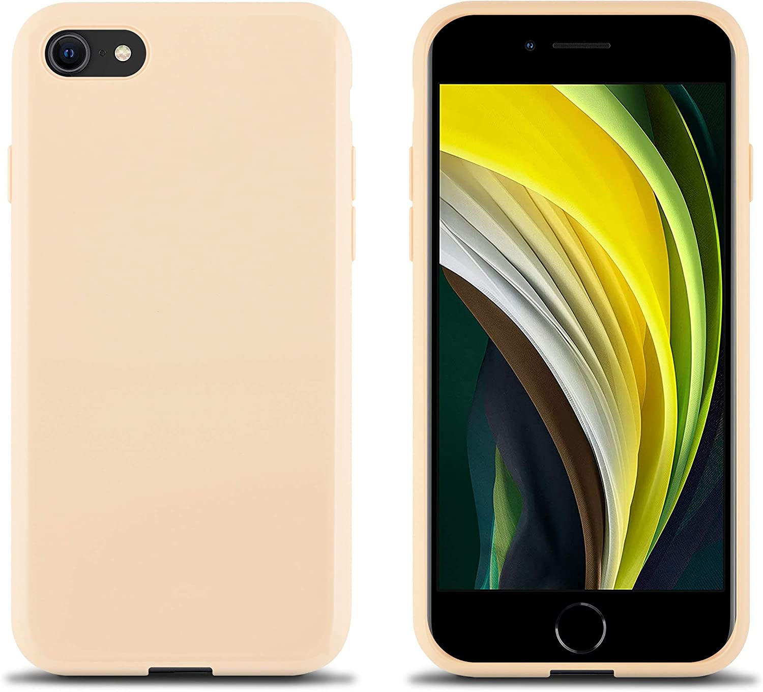 OLOR Apple iPhone 7/8/SE2020 Case – Ultra Slim Fit Cell Phone Shockproof Protective Wireless Charging Compatible Eco-Friendly Clean Protection Cover Ivory