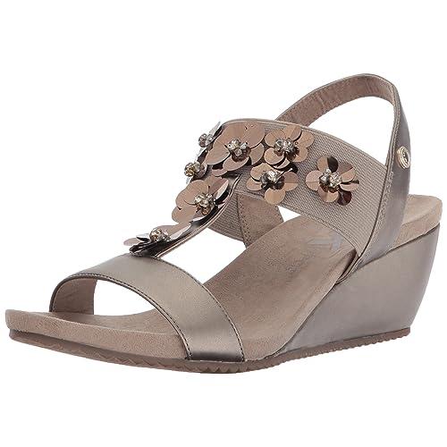 39ef2fd3e20e Anne Klein Women s Cassie Synthetic Wedge Sandal