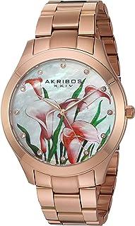 Akribos XXIV Womens Analog Japanese-Quartz Watch with Stainless-Steel Strap AK953FRG