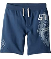 French Terry Graphic Shorts (Big Kids)