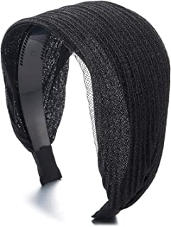 Diadema de punto con forro polar interior para mujer Negro  11 cm FEINZWIRN
