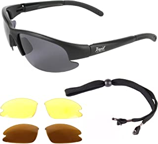3e59322ed17d Rapid Eyewear Mens Polarized Fly Fishing Sunglasses With Interchangeable  Anti Glare Lenses. UV400 Protection.