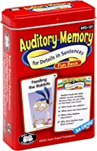 Super Duper Publications | Auditory Memory for Details in Sentences Fun Deck | Listening Comprehension Flash Cards | Educational Learning Materials for Children