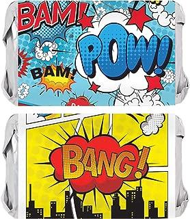 Superhero Birthday Mini Candy Bar Wrappers - 45 Stickers