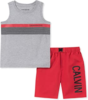 Calvin Klein Baby-Boys 2 Pieces Muscle Shorts Set Shorts Set