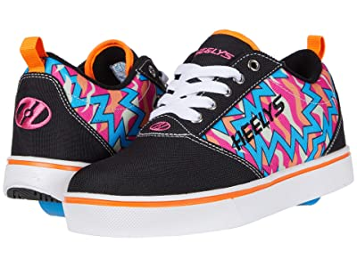 Heelys Pro 20 Prints (Little Kid/Big Kid/Adult) (Black/Pink/Orange/Cyan) Girls Shoes