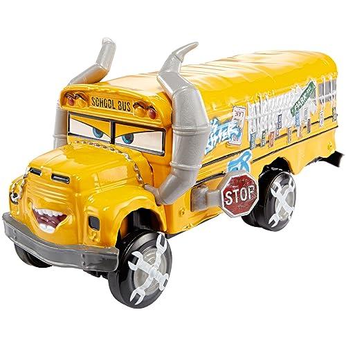 Disney Pixar Cars petite voiture Bus Scolaire Miss Fritter 58, jouet pour enfant, DXV94