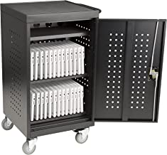 30-Bay Assembled Tablet Charging Cart w/Double Pin Lock & Electric Compatible w/Chromebooks, iPad, Tablets & Laptop Computers Assembled