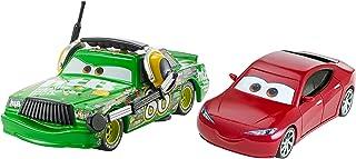 Mattel Disney DXW07 Metal vehículo de Juguete - Vehículos de Juguete, Vehicle Set, Metal, Cars 3, Chick Hicks with Headset & Natalie Certain, 3 año(s)