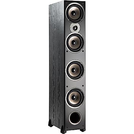 "Polk Audio Monitor 70 Series II Tower Speaker (Black, Single) for Multichannel Home Theater   1"" Tweeter, (4) 6.5"" Woofers   Bi-Wire & Bi-Amp"
