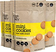 HighKey Snacks Keto Mini Low Carb Cookies - Snickerdoodle, Pack of 3, 2.25oz Bags - Keto Friendly, Gluten Free, Healthy Snack - Sweet, Diet Friendly Dessert - Ketogenic Food with Natural Ingredients