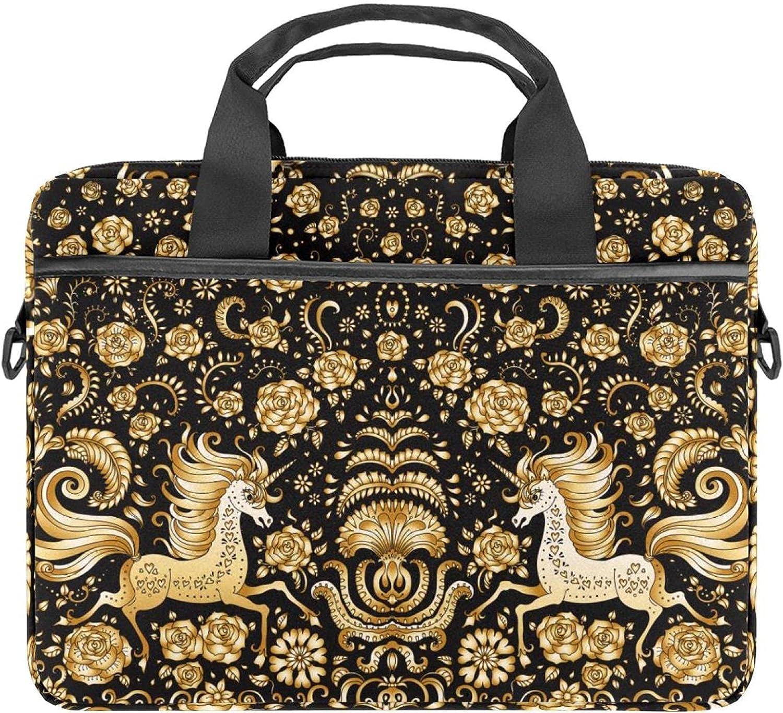Gold Unicorn Laptop Shoulder Messenger Bag Sleeve Max 49% OFF Department store Case 13.4 for