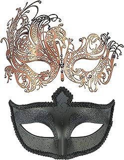 Mens Masquerade Ball Jester Fancy Dress Eye Mask Party Prom Eyemask by Smiffys