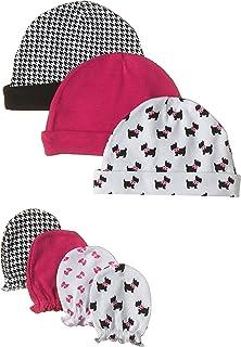 Hudson Baby Unisex Baby Cotton Cap and Scratch Mitten Set