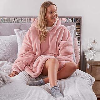 Sienna Hoodie Blanket Ultra Soft Sherpa Fleece Warm Cosy Comfy Oversized Wearable Giant Sweatshirt Throw for Women Girls A...