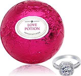 Bath Bomb with Ring Inside Love Potion Extra Large 10 oz. Made in USA (Surprise)