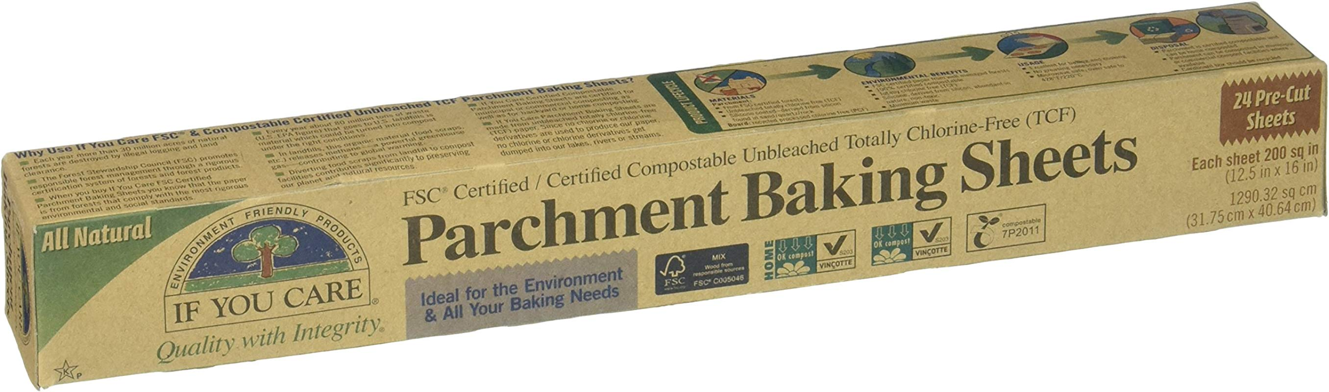 If You Care Parchment Baking Sheets FSC Certified 24 Ct