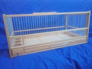 for Quail, Rodent, Small Animal/Wooden Quail Cage, Plexiglas, Slide Out Tray