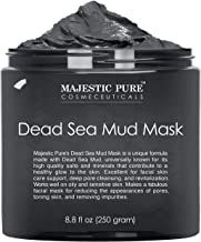 Best MAJESTIC PURE Dead Sea Mud Mask - Natural Face and Skin Care for Women and Men - Best Black Facial Cleansing Clay for Blackhead, Whitehead, Acne and Pores - 8.8 fl. Oz Review