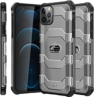 """M Cart Designed for iPhone 12 / iphone12 Pro Case, Drop Tested Back Cover [Comfortable Grip] [Screen & Camera Protection] [Shock-Absorbing] for iPhone 2020, 6.1"""" (Devia Black)"""