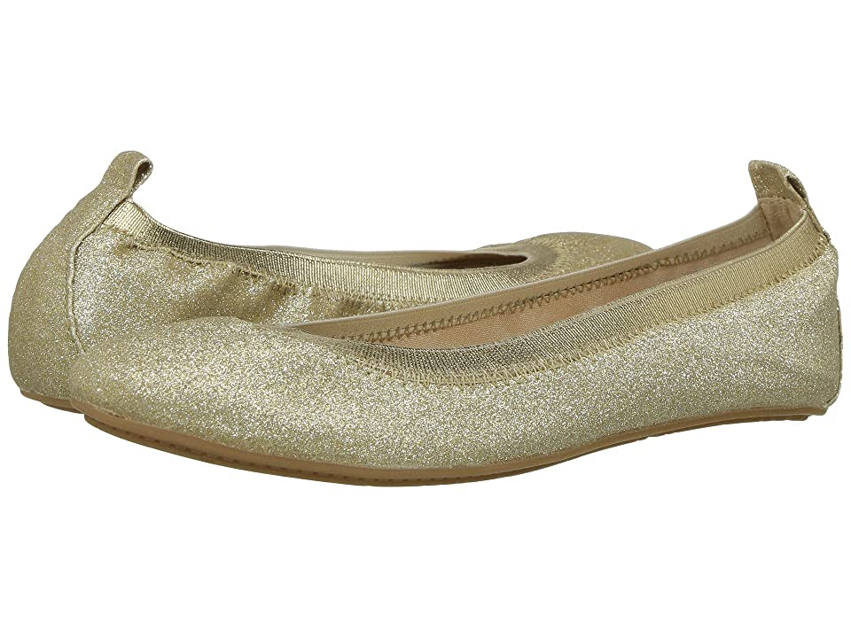 Yosi Samra Kids Miss Samara Glitter Ballet Flat (Toddler/Little Kid/Big Kid) (Gold Glitter) Girls Shoes