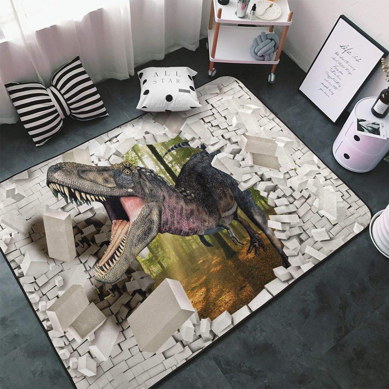 デポー Tsugar FUUNY 未使用品 3D Dinosaur Area Rugs Carpets for Child Room Living