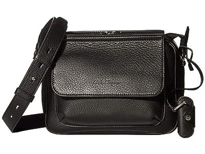 Salvatore Ferragamo Tornabuoni Small Messenger Bag 24A457 (Black) Messenger Bags