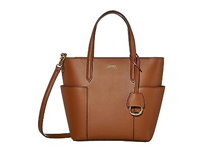 LAUREN Ralph Lauren Carlyle 20 Tote Mini (Field Brown/Black) Handbags