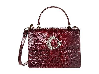 Brahmin Melbourne Luxe Mini Francine Satchel (Infrared) Handbags
