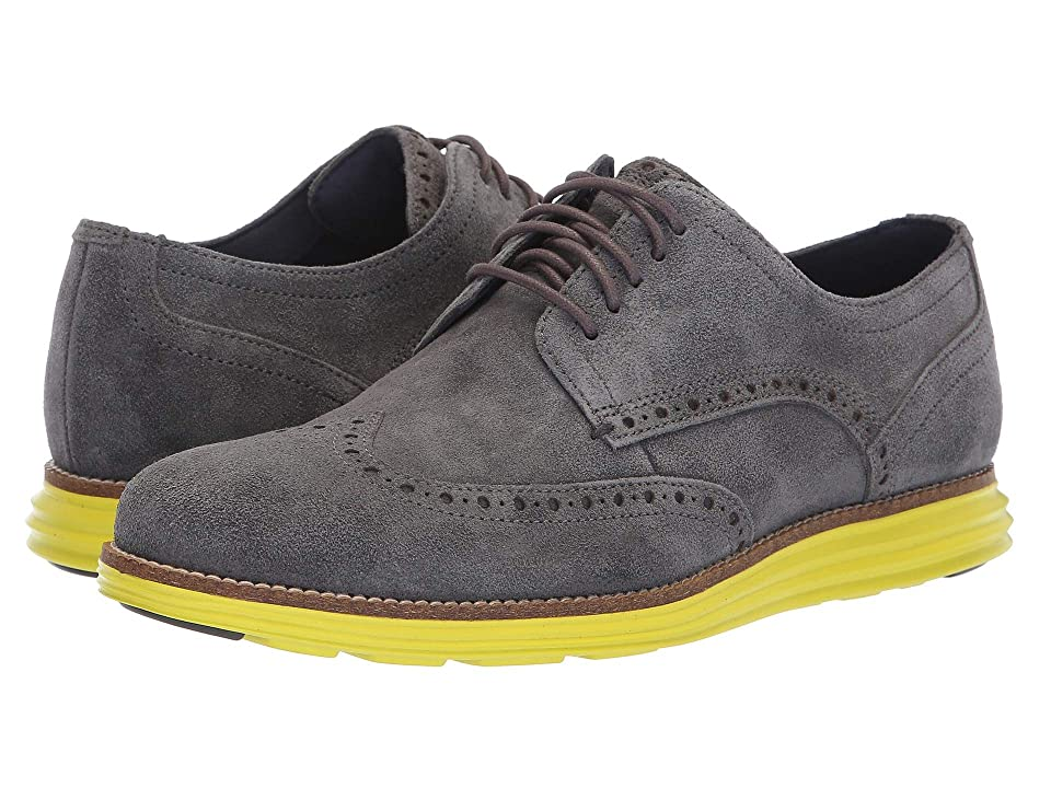 Cole Haan Original Grand Wingtip Oxford (Magnet Suede/Sulphur Spring) Men