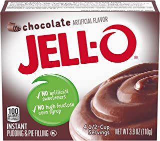 JELL-O Instant Chocolate Pudding & Pie Filling Mix (3.9 oz Boxes, Pack of 24)