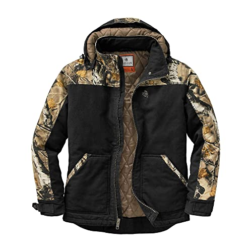 36e01451164a Legendary Whitetails Men's Canvas Cross Trail Big Game Camo Workwear Hooded  Jacket